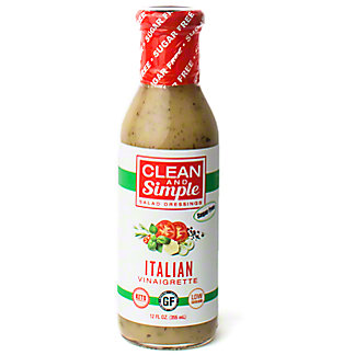 Clean & Simple Salad Dressing Italian Vinaigrette, 12 oz