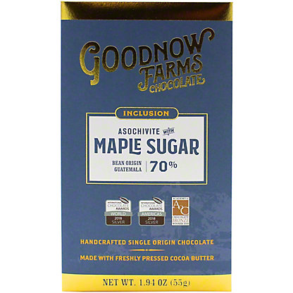 Goodnow Farms Chocolate Asochivite With Maple Sugar 70% Chocolate, 1.94 oz
