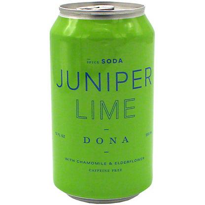 Dona Juniper Lime with Chamomile & Elderflower Soda, 12 fl oz