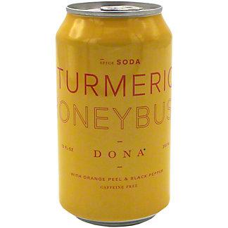 Dona Turmeric Honeybush Spice Soda, 12 oz