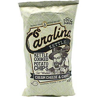 Carolina Kettle Sir Walter Cream Cheese Chive Potato Chips , 5 oz