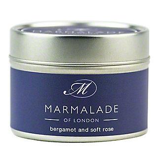 Marmalade Of London Candle Bergamot & Rose Small, 4 oz