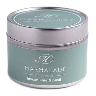 Marmalade Of London Candle Tuscan Lime & Basil Small, 4 oz