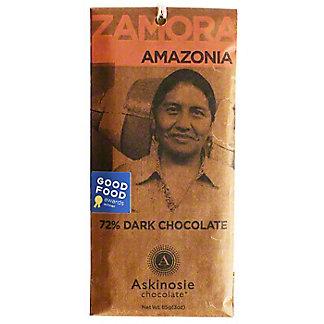 Askinosie Chocolate 72% Zamora Amazonia Dark Chocolate Bar, 3 oz