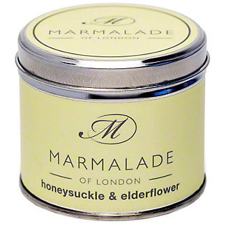 Marmalade Of London Honeysuckle Elderflower Candle Medium, 7 oz