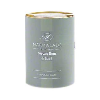 Marmalade Of London Candle Tuscan Lime & Basil Large, 8 oz