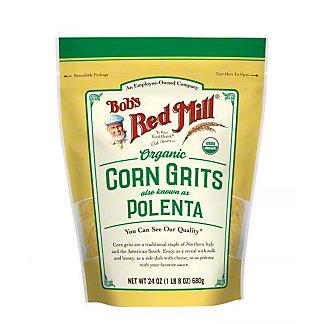 Bobs Red Mill Organic Gluten Free Polenta Corn Grits, 24 oz