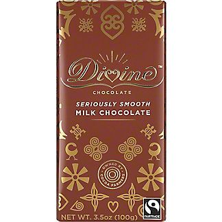 Divine Chocolate Milk Chocolate Bar, 3.5 oz
