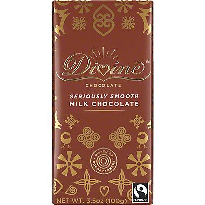 Divine Chocolate Milk Chocolate Bar, 3.5 oz