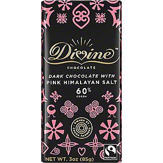 Divine Chocolate 60% Dark Chocolate with Pink Himalayan Salt, 3 oz
