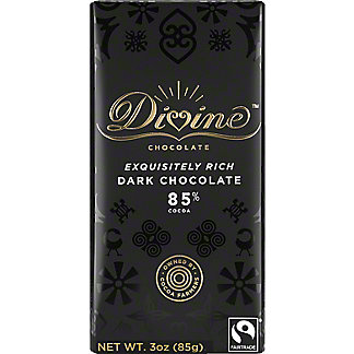 Divine Chocolate 85% Dark Chocolate, 3 oz