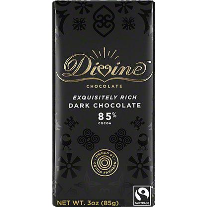 Divine Chocolate 85% Dark Chocolate, 3 oz
