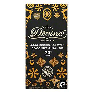 Divine Chocolate 70% Dark Chocolate with Coconut & Mango, 3 oz