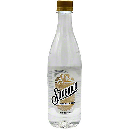 Superior Natural Mineral Water, 20 oz