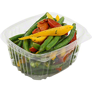 Central Market Green Beans with Roasted Tomatoes and Yellow Bell Peppers, lb