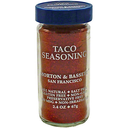 Morton & Bassett Taco Seasoning, 2.40 oz