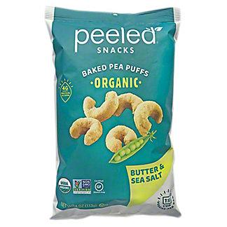 Peeled Snacks Butter & Sea Salt Baked Pea Puffs, 4 oz