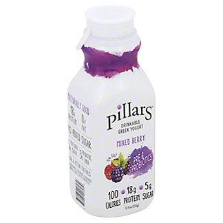 Pillars Drinkable Greek Yogurt Mixed Berry, 12 oz