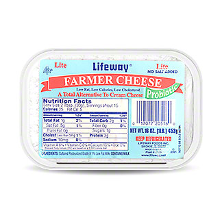 Lifeway Farmer Cheese Lite, 16 oz