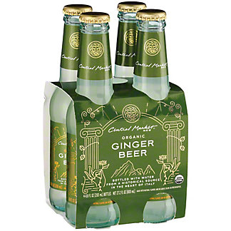 Central Market Organic Ginger Beer 6.8 oz Bottles, 4 pk