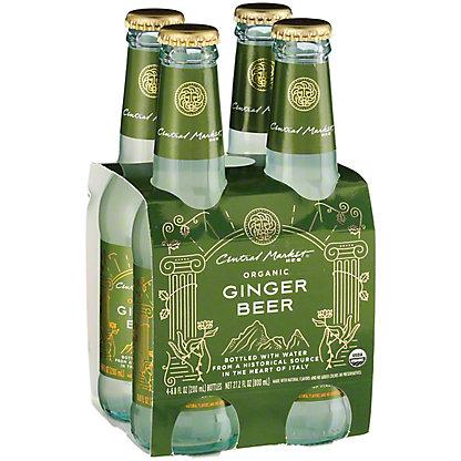 Central Market Organic Ginger Beer 6.8 oz Bottles, 4 pk