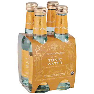 Central Market Organic Tonic Water 6.8 oz, Glass Bottles, 4 pk