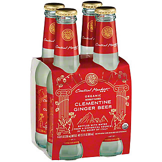 Central Market Organic Clementine Ginger Beer 6.8 oz Bottles, 4 pk