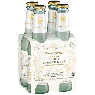 Central Market Organic Light Ginger Beer 6.8 oz Bottles, 4 pk