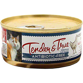 Tender & True Antibiotic Free Chicken & Brown Rice Cat Food , 5.5 oz