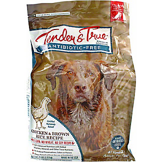 Tender & True Antibiotic Free Chicken & Brown Rice Dog Food, 4 lb