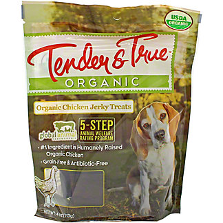 Tender & True Organic Chicken Jerky Dog Treat, 4 oz
