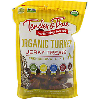 Tender & True Organic Turkey Jerky Dog Treat, 4 oz