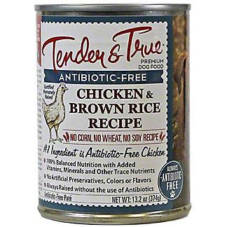 Tender & True Antibiotic Free Chicken & Brown Rice Dog Food, 13.2 oz