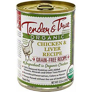 Tender & True Organic Chicken And Liver Dog Food, 12.5 oz