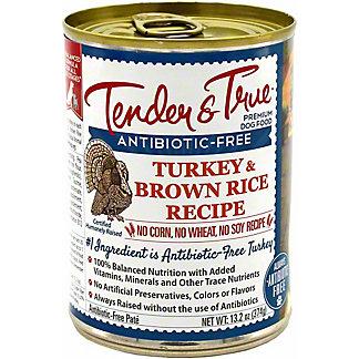 Tender & True Antibiotic Free Turkey & Brown Rice Dog Food, 13.2 oz