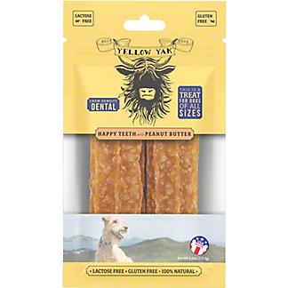 Yellow Yak Peanut Butter Dental Dog Treat, 4 oz