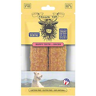 Yellow Yak Bacon Dental Dog Treat , 4 oz