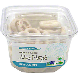 Nassau Candy Yogurt Covered Mini Pretzels, 4.75 oz