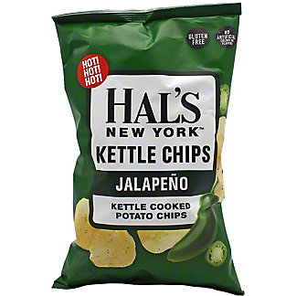 Hal's New York Jalapeno Kettle Chips, 5 oz