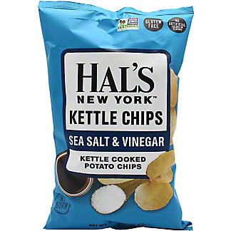 Hal's New York Sea Salt And Vinegar Kettle Chips , 5 oz