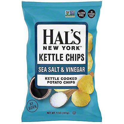 Hal's New York Sea Salt And Vinegar Kettle Chips, 5 oz