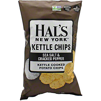 Hal's New York Sea Salt And PepperKettle Chips, 5 oz