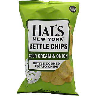 Hal's New York Sour Cream And Onion Kettle Chips, 5 oz