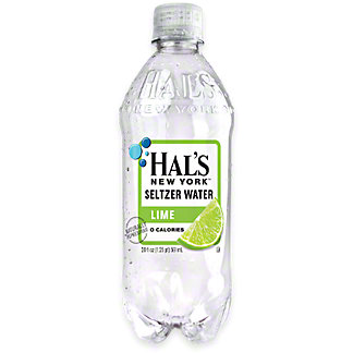 Hal's New York Lime Seltzer Water , 20 oz