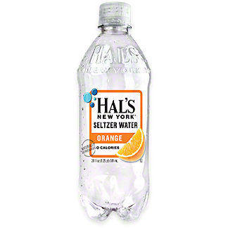 Hal's New York Orange Seltzer Water , 20 oz