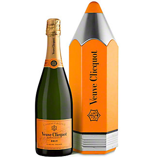 Veuve Clicquot Yellow Label Brut Champagne in Collectible Pencil Tin, 750ml