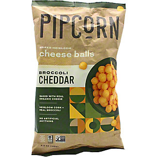 Pipcorn Baked Heorloom Cheese Balls Broccoli Cheddar, 4.5 oz