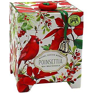 Michel Design Works Poinsettia Candle, 6.5 oz