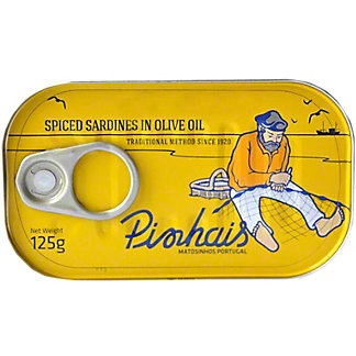 Pinhais Spiced Canned Sardines In Virgin Olive Oil , 4.41 oz