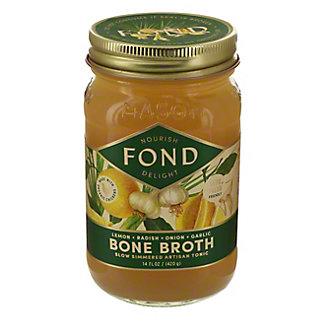 Fond Chicken with Lemon, Radish, Garlic and Onion Bone Broth, 14 oz